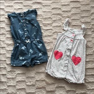 Bundle of Heart Rompers